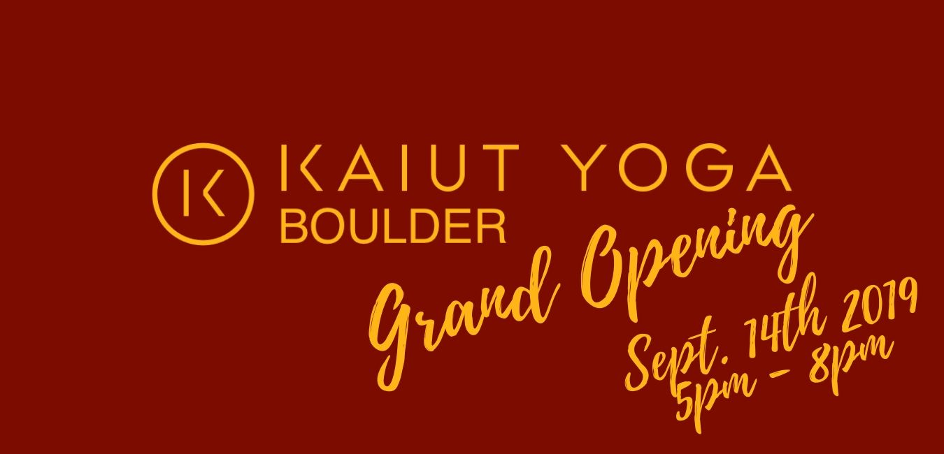 Kaiut Yoga Boulder Grand Opening