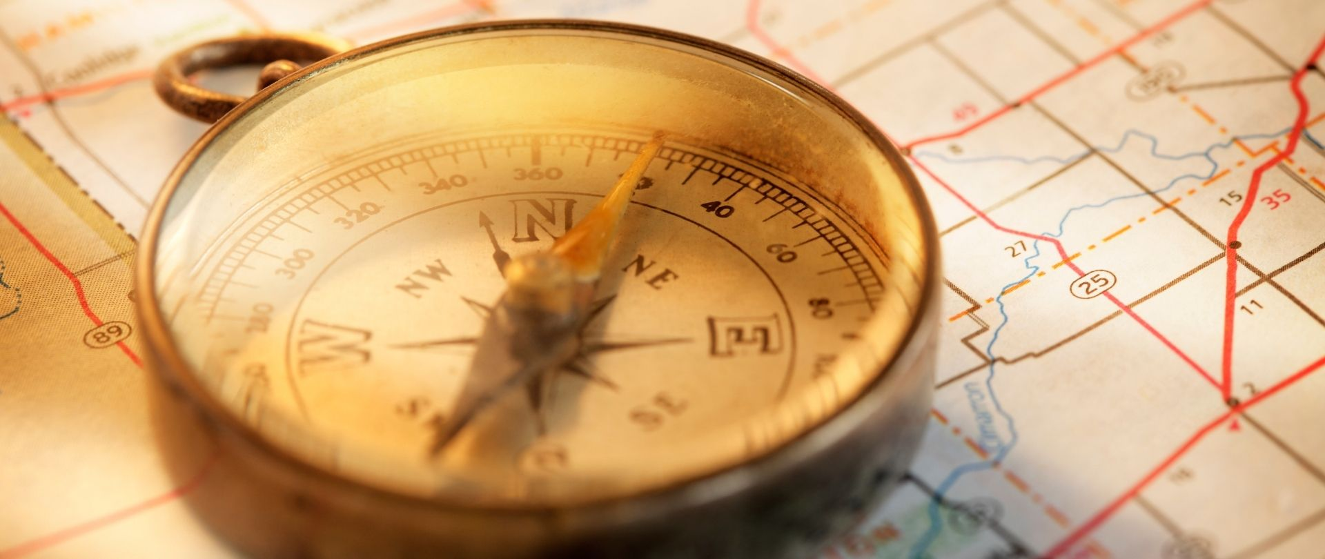 An image of a compass